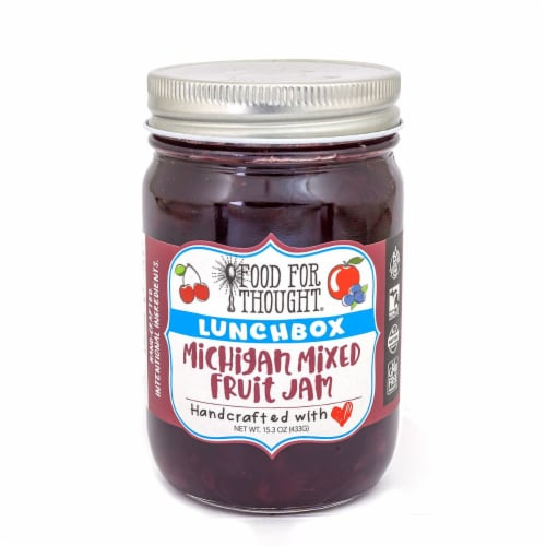 Lunchbox Michigan Mixed Fruit Jam; All Natural, GMO Free, Gluten Free Perspective: front
