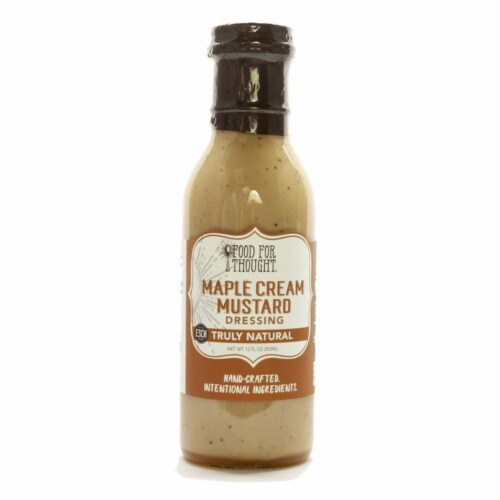 Maple Cream Mustard Dressing; All Natural, GMO Free Perspective: front