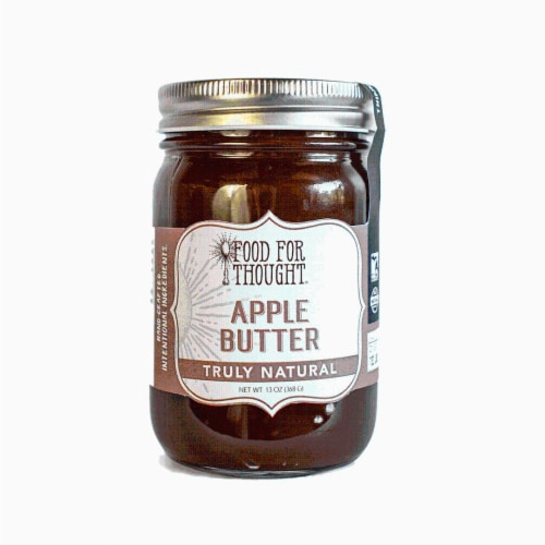 Apple Butter; All Natural, GMO Free, Gluten Free Perspective: front