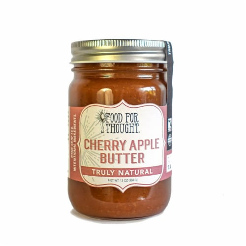 Cherry Apple Butter; All Natural, GMO Free, Gluten Free Perspective: front