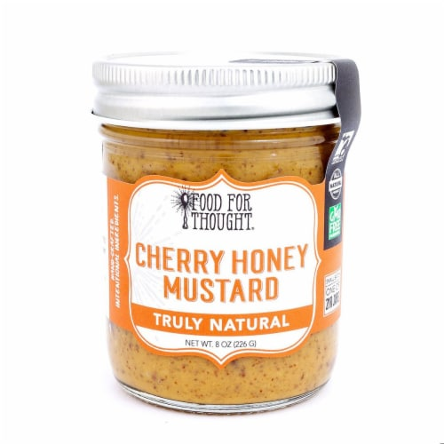 Cherry Honey Mustard; All Natural, GMO Free, Gluten Free Perspective: front