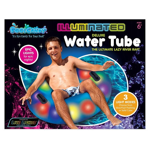 Pool Candy Jumbo Illuminated Water Tube Perspective: front