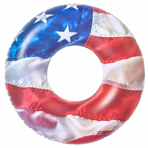 Pool Candy Jumbo Stars & Stripes Pool Tube Perspective: front