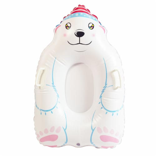 SnowCandy Inflatable Polar Bear Inflatable Snow Sled Perspective: front