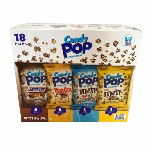 Candy Pop Popcorn Variety Pack (18 Count) Perspective: front