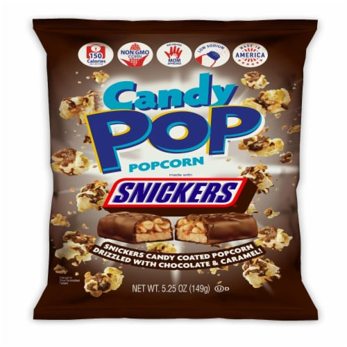 Candy Pop Snickers Popcorn Perspective: front