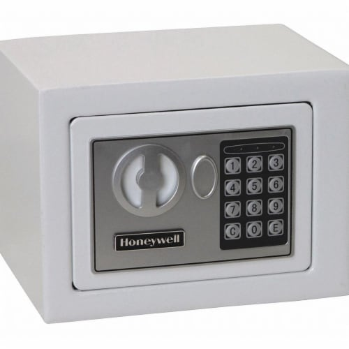 Honeywell Security Safe,0.17 cu. ft Capacity,White Perspective: front