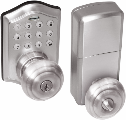 Honeywell Electronic Entry Door Knob Perspective: front