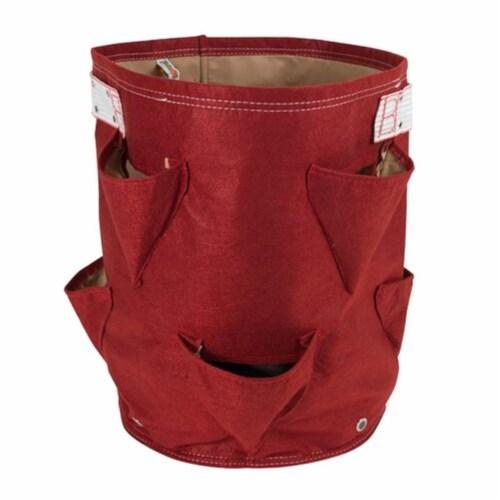 Bloem SBP-12 9 gal Bagz Strawberry Planter, Red Perspective: front