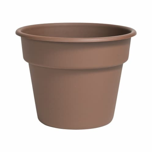Bloem DC6-45 6 in. Dura Cotta Planter, Chocolate Perspective: front