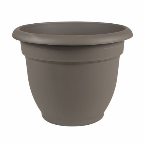 Bloem AP0860 8 in. Ariana Planter with Self Watering Grid, Peppercorn Perspective: front