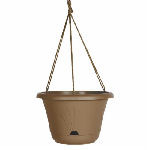 "Bloem Lucca Self Watering Hanging Basket, 13"", Chocolate Perspective: front"