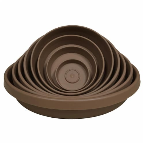 Bloem STT2445 24 in. Terra Plant Saucer Tray, Chocolate Perspective: front