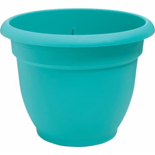 Bloem 256711 8 in. Ariana Planter, Bermuda Teal Perspective: front
