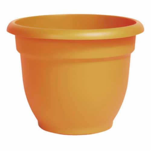 Bloem 256719 12 in. Ariana Planter, Earthy Yellow Perspective: front