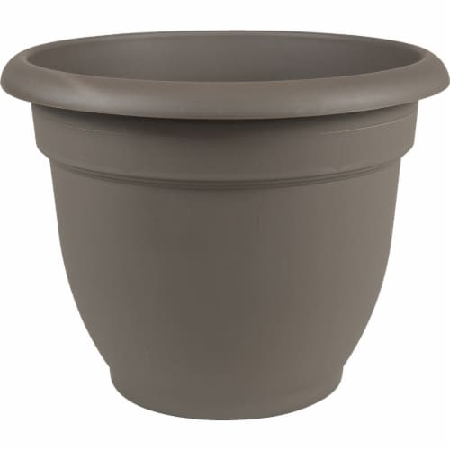 Bloem 256713 8 in. Ariana Bell Shaped Planter, Charcoal Perspective: front
