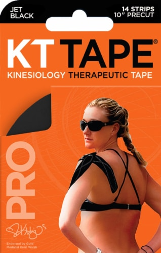 KT Kinesiology Therapeutic Tape - Jet Black Perspective: front