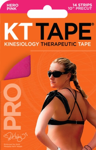 KT Tape Hero Pink Kinesiology Therapeutic Tape Strips Perspective: front