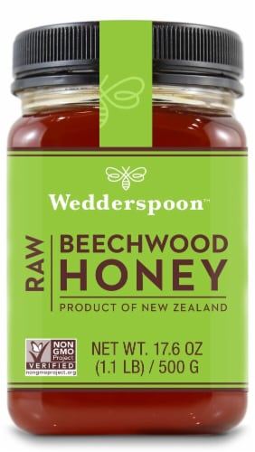 Wedderspoon  Raw Beechwood Honey Perspective: front