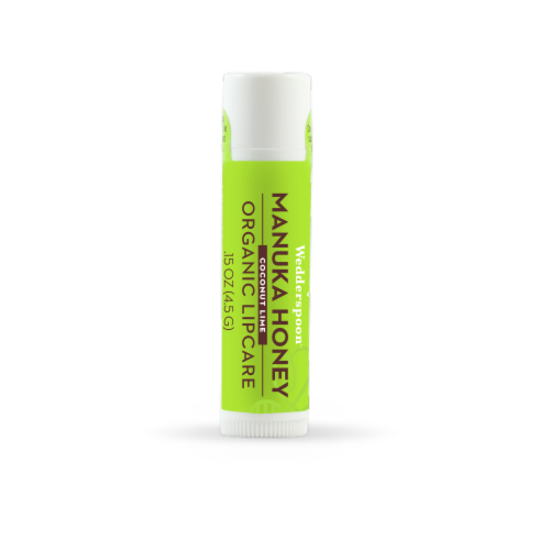 Wedderspoon  Organic Lipcare with Manuka Honey   Coconut Lime Perspective: front