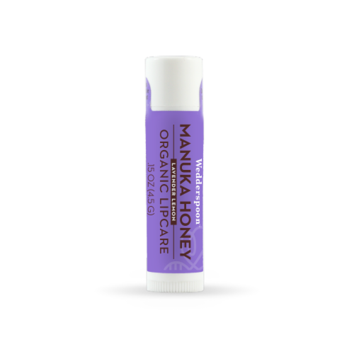 Wedderspoon  Organic Lipcare with Manuka Honey   Lavender Lemon Perspective: front