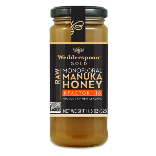 Wedderspoon Gold Raw KFactor Manuka Honey Perspective: front