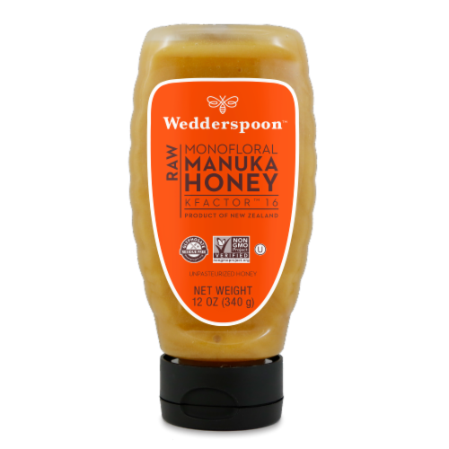 Wedderspoon  Raw Manuka Honey KFactor™ 16 Unpasteurized Perspective: front