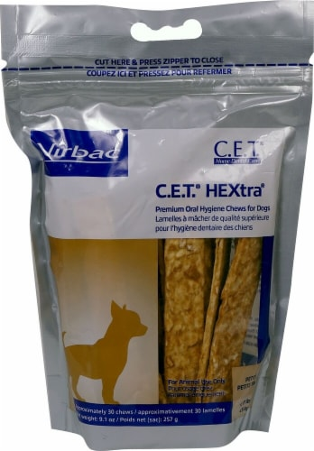Virbac  C.E.T.® HEXtra® Chews For Dogs - Petite Perspective: front