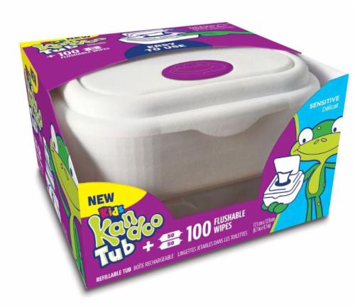 Kids Kandoo Sensitive Flushable Wipes Perspective: front