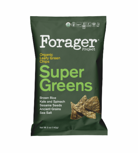 Forager Project Organic Super Greens Leafy Green Chips Perspective: front