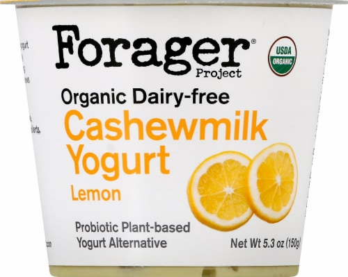 Forager Project Organic Dairy-Free Lemon Cashewmilk Yogurt Alternative Perspective: front
