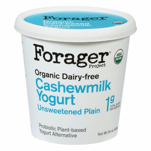 Forager Project Organic Dairy-Free Unsweetened Plain Cashewmilk Yogurt Alternative Perspective: front