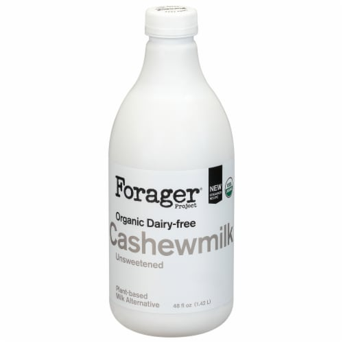 Forager® Project Organic Dairy-Free Unsweetened Cashewmilk Perspective: front