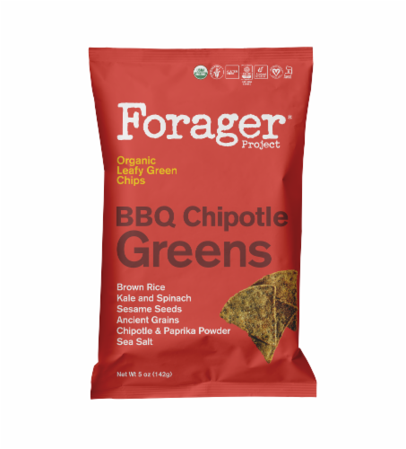 Forager Project Organic BBQ Chipotle Greens Leafy Green Chips Perspective: front