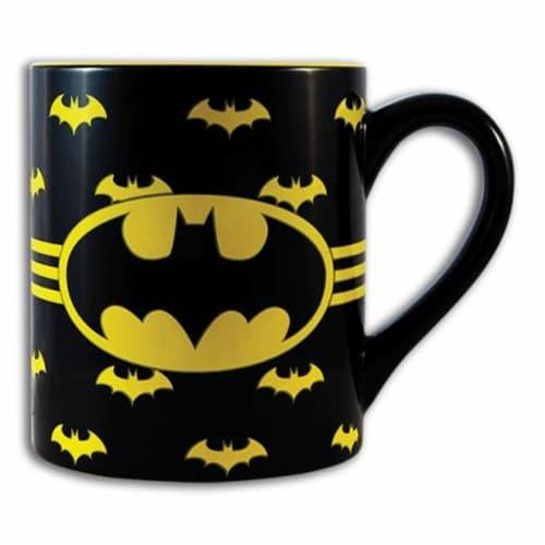 Silver Buffalo 14 oz Batman Logo Mug Perspective: front