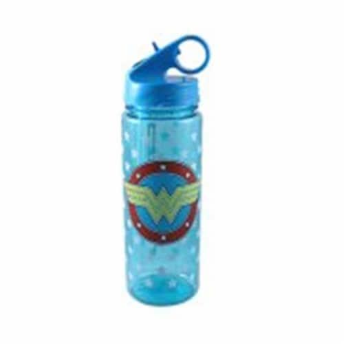 Silver Buffalo 230884 600 ml Wonder Woman Water Bottle, Blue Perspective: front