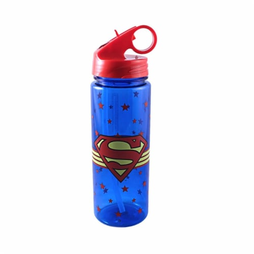 Silver Buffalo 230880 600 ml Superman Logo Wrap Water Bottle Perspective: front