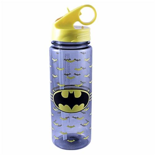 Silver Buffalo 230859 600 ml Batman Logo Wrap Water Bottle Perspective: front