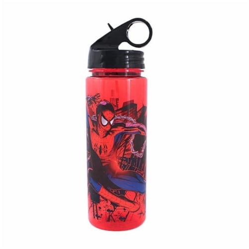 Silver Buffalo 230871 600 ml Spiderman Water Bottle, Multi Color Perspective: front