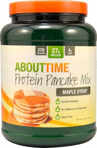 About Time  Protein Pancake Mix   Maple Syrup Perspective: front