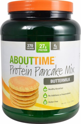 About Time  Protein Pancake Mix   Buttermilk Perspective: front