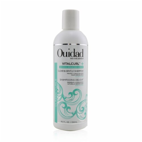 Ouidad VitalCurl Plus Clear and Gentle Shampoo 8.5 oz Perspective: front