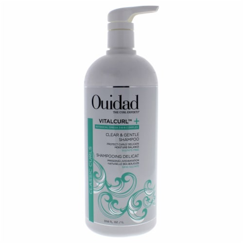 VitalCurl Plus Clear and Gentle Shampoo by Ouidad for Unisex - 33.8 oz Shampoo Perspective: front