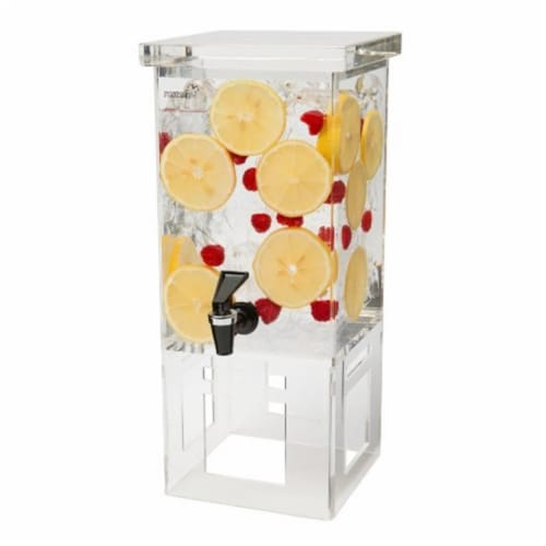 Rosseto Serving Solutions Acrylic Base Rectangle Beverage Dispenser, 1-Gallon Perspective: front