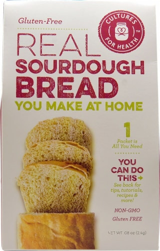 Cultures For Health  Real Sourdough Bread Starter Culture Gluten-Free Perspective: front