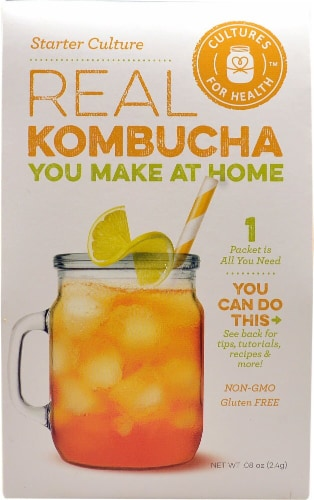 Cultures For Health Real Kombucha Starter Culture Perspective: front