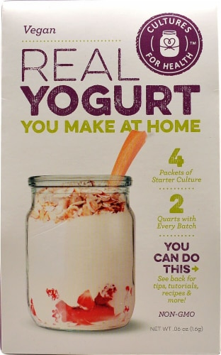 Cultures For Health  Real Yogurt Starter Culture Vegan Perspective: front