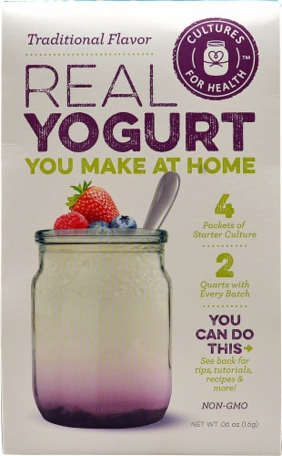 Cultures For Health  Real Yogurt Starter Culture   Traditional Flavor Perspective: front