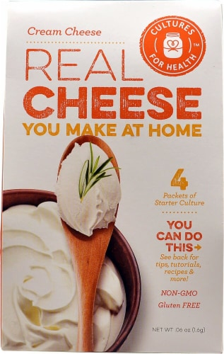 Cultures For Health Cream Cheese Real Cheese Starter Culture - 4 Packets Perspective: front