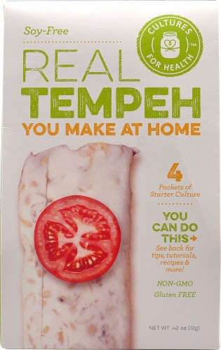 Cultures For Health Soy-Free Real Tempeh Starter Culture - 4 Packets Perspective: front